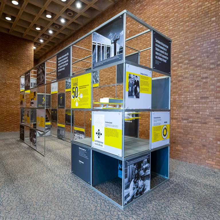 A large installation of a display.