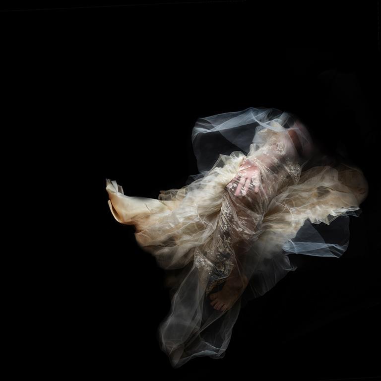 A dress underwater.