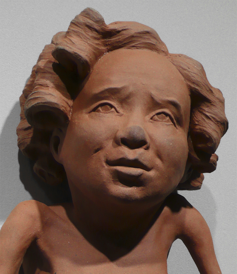 Sculpture of a person.