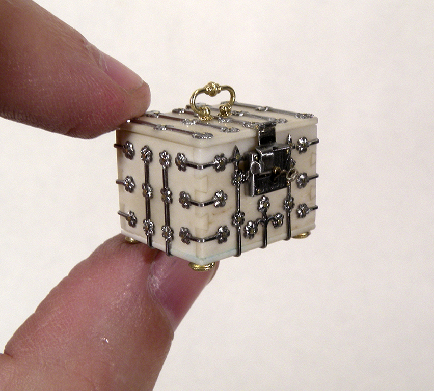 A miniature white box.
