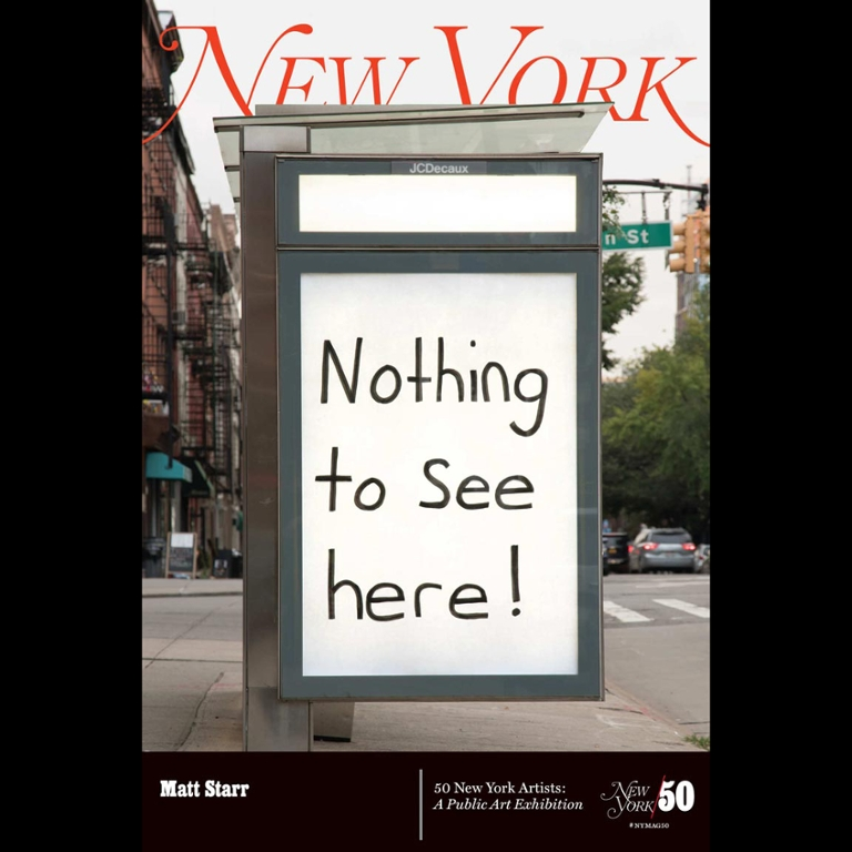 A New York magazine cover that says Nothing to see here